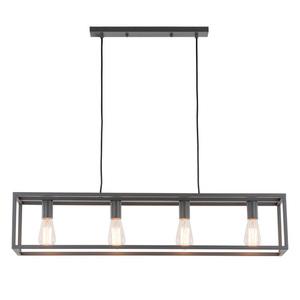 Lampă suspendată gri Sigalo E27 cu 4 becuri small 2