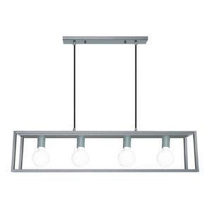 Lampă suspendată gri Sigalo E27 cu 4 becuri small 0