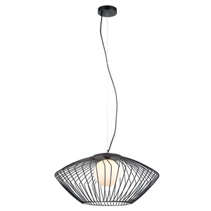 Lampă cu pandantiv negru Zeno E27 small 1