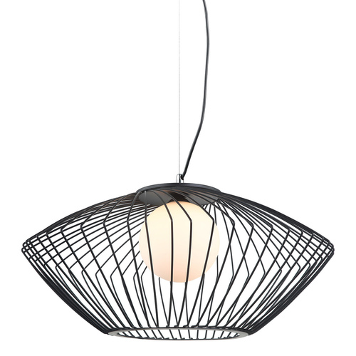 Lampă cu pandantiv negru Zeno E27