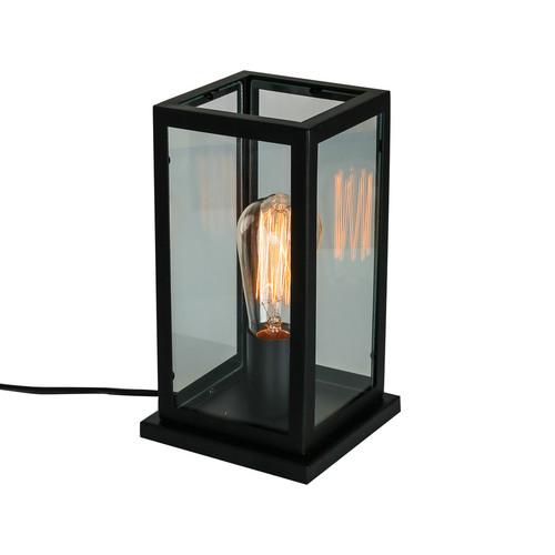 Lampă de birou neagră Laverno E27