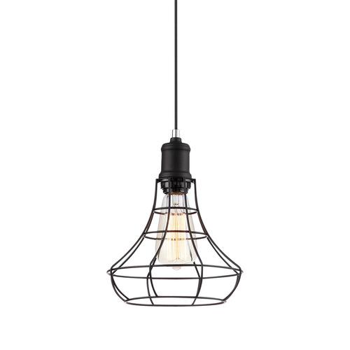 Lampă suspendată Neagră Synthia E27