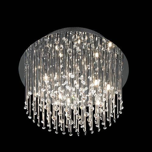 Lampă clasică de tavan cu 12 puncte din cristal Angel G4