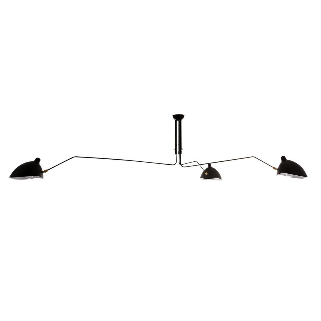 Lampă suspendată Davis E27 neagră, cu 6 becuri