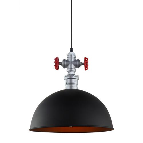 Lampă suspendată neagră Rosa E27