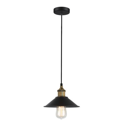 Lampă suspendată Kermio E27 neagră
