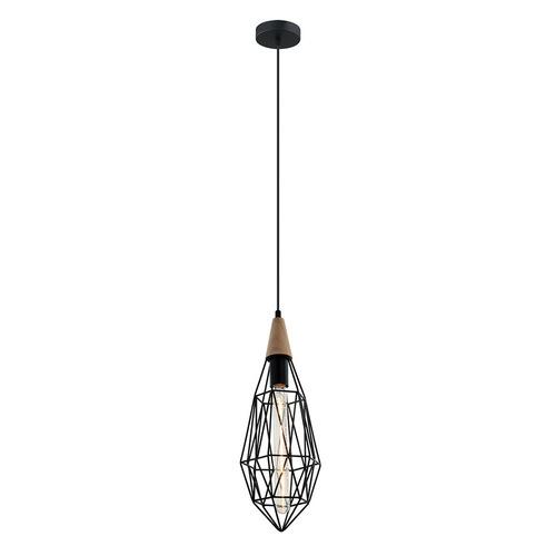 Lampă suspendată neagră Maelle E27