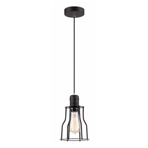 Lampă suspendată Moshi E27 neagră