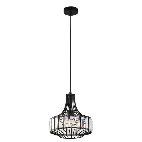 Lampă suspendată neagră Sawin E27