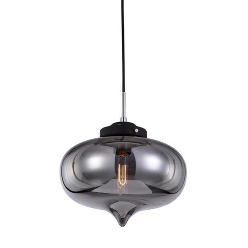 Lampă suspendată neagră Heart E27