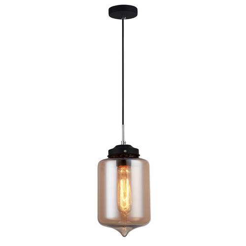 Tub negru de lampă suspendată E27