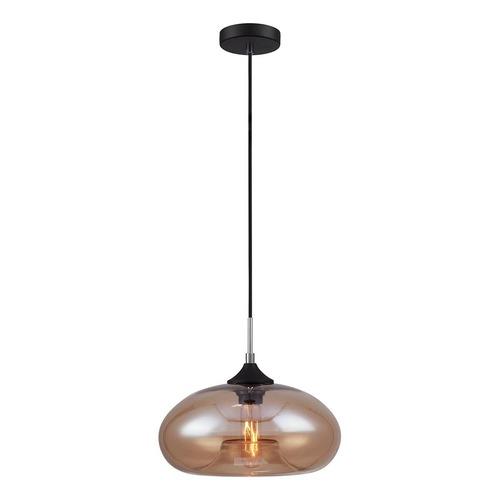 Lampă suspendată neagră Valio E27