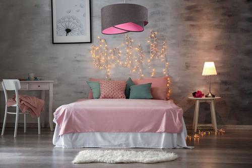 Lampă suspendată pentru tineri Elegance 60W E27 gri / culori
