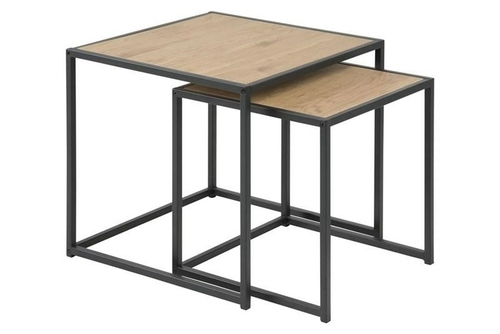Set de masă ACTONA SEAFORD, stejar - MDF, metal