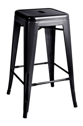Scaun de bar TOWER (Paris) 66cm negru - metal