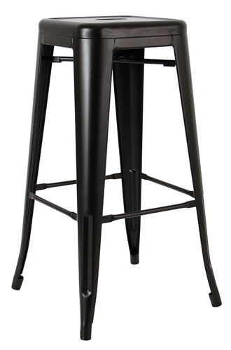 Scaun de bar TOWER (Paris) 76cm negru - metal