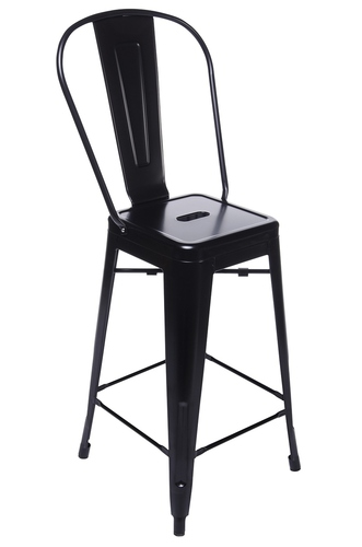 Scaun de bar TOWER BACK (Paris Back) 66cm negru - metal