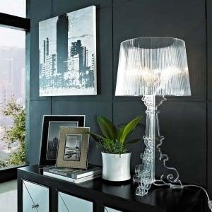 Lampa de masă Glamour Kartell BOURGIE Transparent small 1