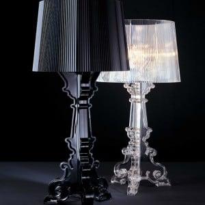 Lampa de masă Glamour Kartell BOURGIE Transparent small 2