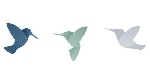 Decor de perete UMBRA HUMMINGBIRD -mix