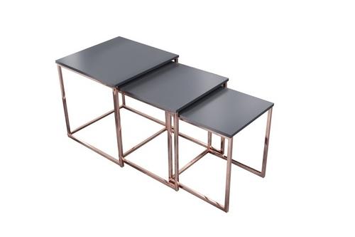 Set de masă TRIO SLIM din bază cupru - cupru