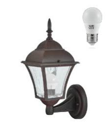 Lampa exterioară de perete pe o spânzurătoare cu vitraliu (34 cm) - PARIS 2 small 0