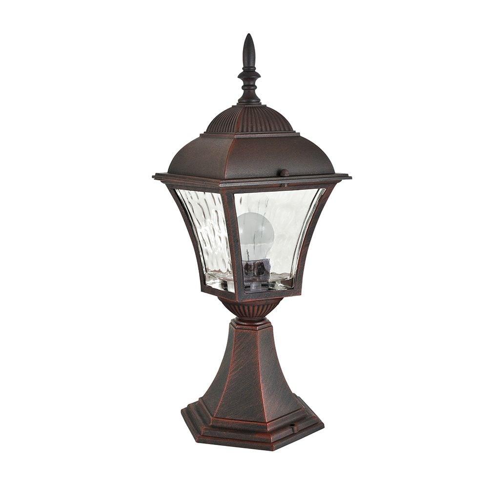 Lampa de grădină cu vitraliu (34 cm) - PARIS 2 (bec bec LED 2in1 inclus)