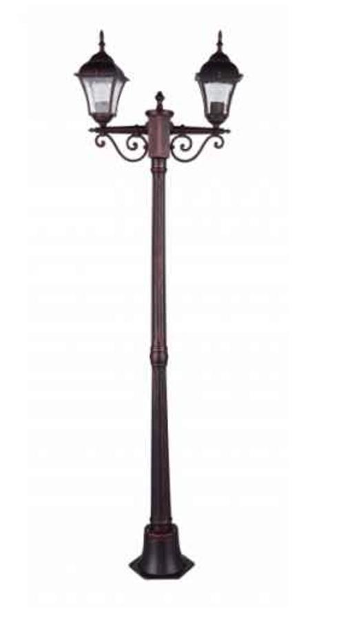 Lanterna de gradina in picioare Odessa 2 Alu + 2 becuri 175cm