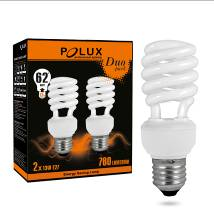 Bec cu economie de energie Polux Duopack T2 11W E27 2700K