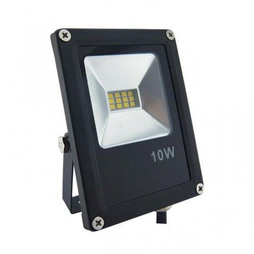Proiector LED POLUX SMD 10W IP65 negru