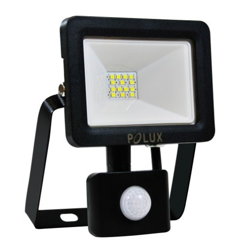 Proiector LED POLUX 10W IP65 senzor negru