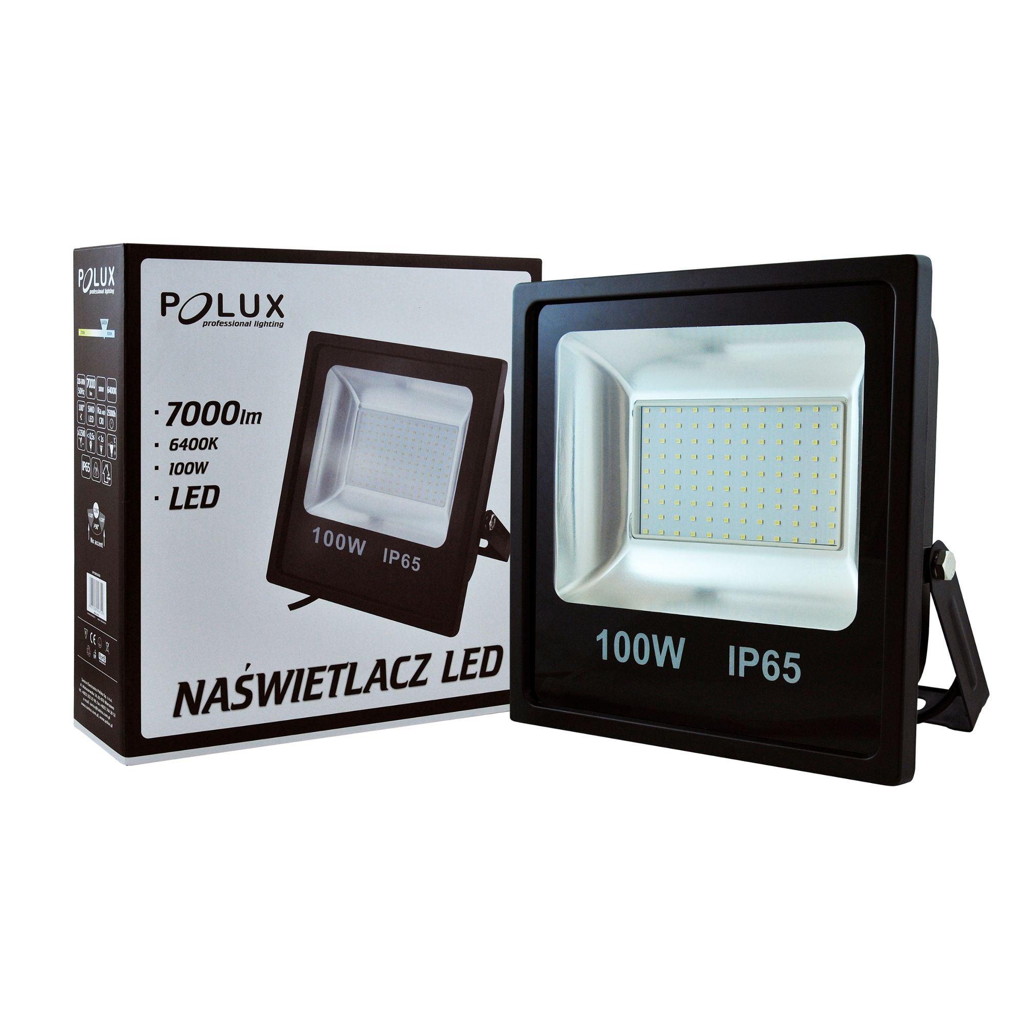Proiector LED POLUX 100W IP65 negru