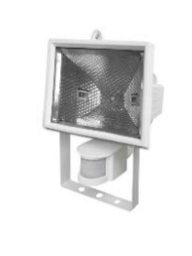 Proiector halogen POLUX PH118WSR cu senzor alb