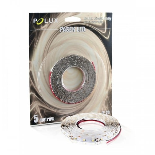 Bandă LED Polux 5m culoare alb cald 16 W IP20