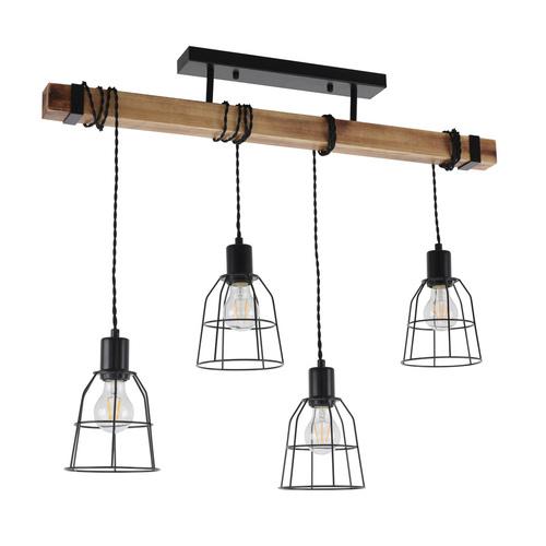 Lampă suspendată neagră PONTE Italux PND-4290-4-L