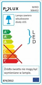 POLUX MIRO IO8XWWWH3-280 LED-uri accesorii 3in1 pachet alb trei small 2