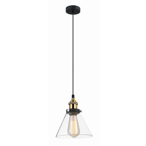 Lampă suspendată neagră Getan E27
