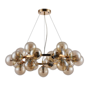 Lampă suspendată Gold Cabella G9 cu 25 de becuri small 0