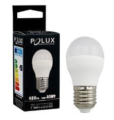 LED POLUX G45 E27 1: 1 bec de lapte ceramic SMDWW 480lm