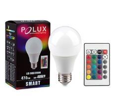 LED POLUX SMART A60 E27 SMDWW RGB 6W 470lm + Telecomandă