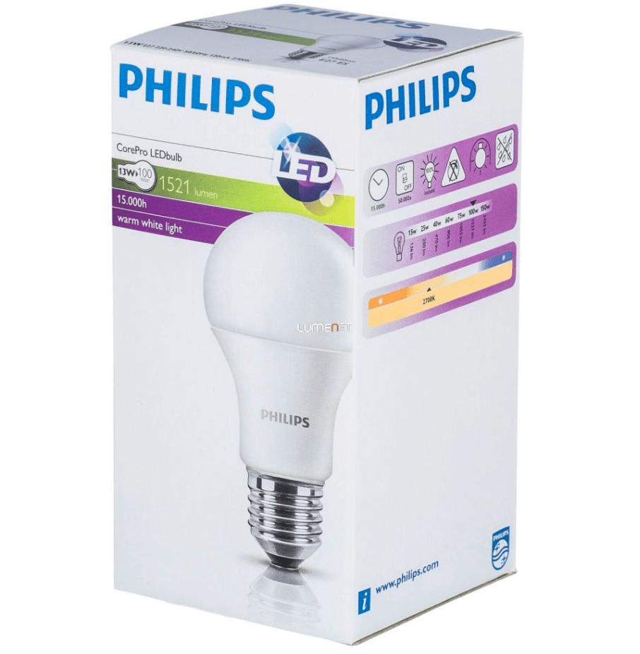 LED PHILIPS 13,5 W bec E27 1521lm CorePro