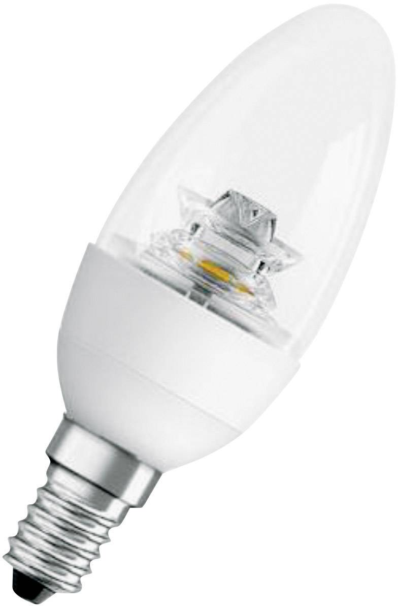 OSRAM LED Candle 6 W 470 lm Sticla transparentă