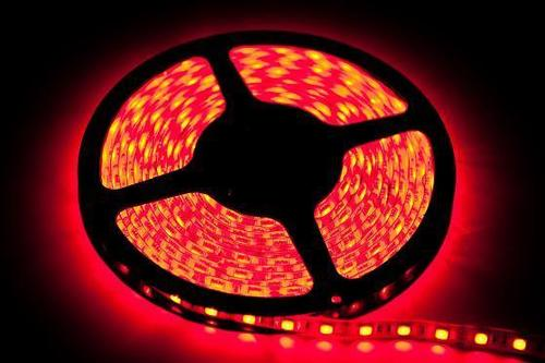 60 benzi LED 24 W. Culoare roșie. Ip65. (5 metri) IP65
