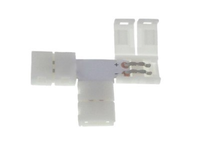 Conector led 10mm. Forma: T